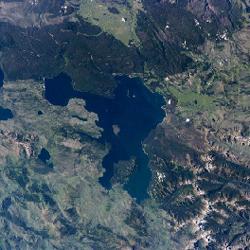 מפת אגם יילוסטון, וויומינג, ארצות הברית