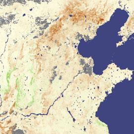 מפת בצורת בצפון סין