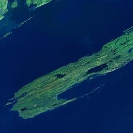"""מפת הגן הלאומי של איי רויאל, ארה""""ב"""