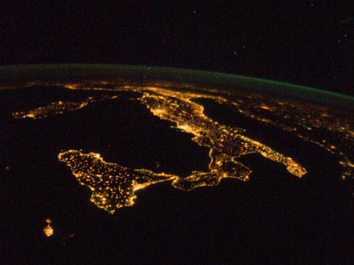 המגף האיטלקי מהחלל