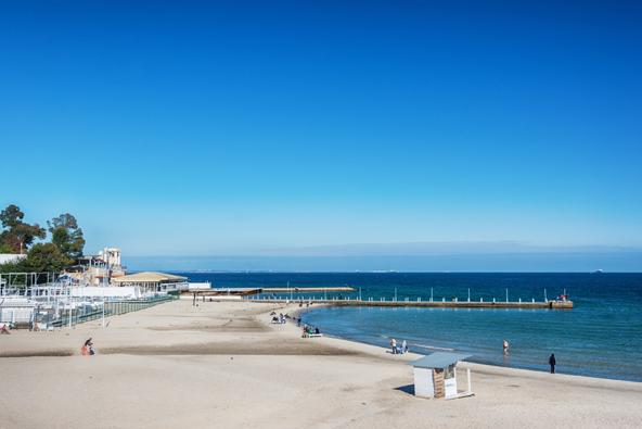 חוף ברובע ארקדיה