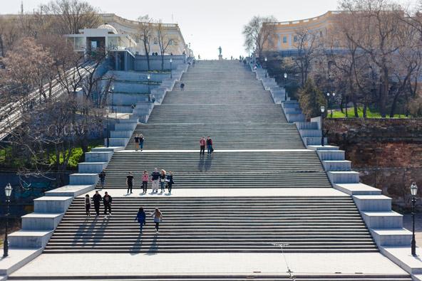 מדרגות פוטיומקין, שהונצחו בסרטים
