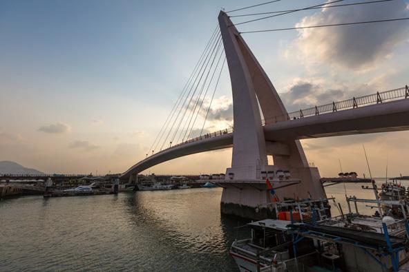 גשר האוהבים ב דאנשואי, מקום מושלם לצפות בשקיעה