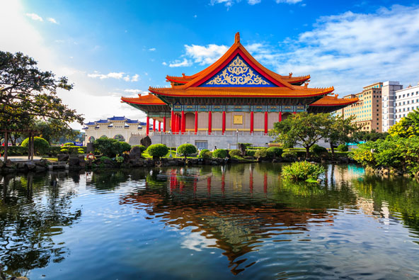 התיאטרון הלאומי בטייפה. בירת טאיוואן משלבת בין מודרניות למסורת