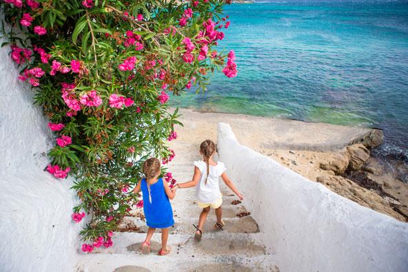 איי יוון עם ילדים