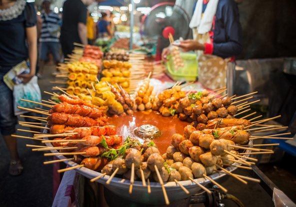 דוכן אוכל רחוב בבנגקוק