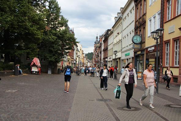 המדרחוב של היידלברג, אחד הארוכים באירופה | צילומים בכתבה: גיל אל עמי