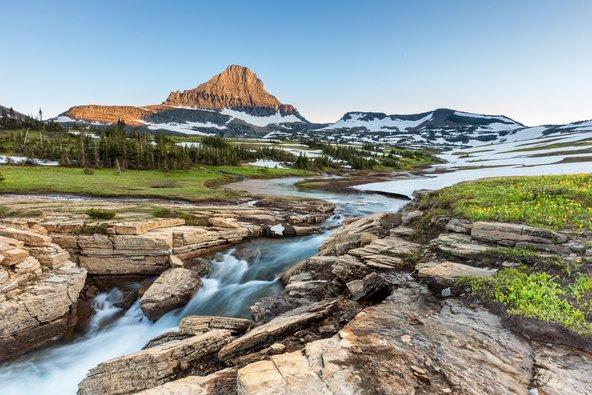 נוף בפארק הלאומי גליישר