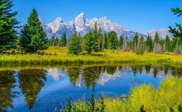 הפארק הלאומי גרנד טיטון. גלוית נוף מושלמת