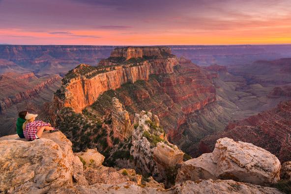 הגרנד קניון. הטבע במערב ארצות הברית עוצר נשימה בעוצמתו, וזו לא קלישאה