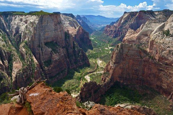 תצפית על קניון ציון, גולת הכותרת של הפארק הלאומי ציון