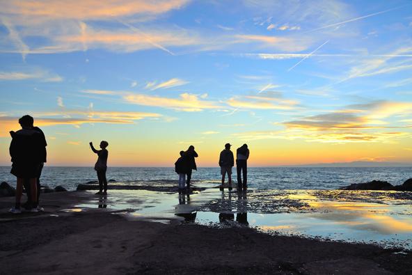 טיול שקיעה על חוף ליד גנואה | צילומים: שאטרסטוק