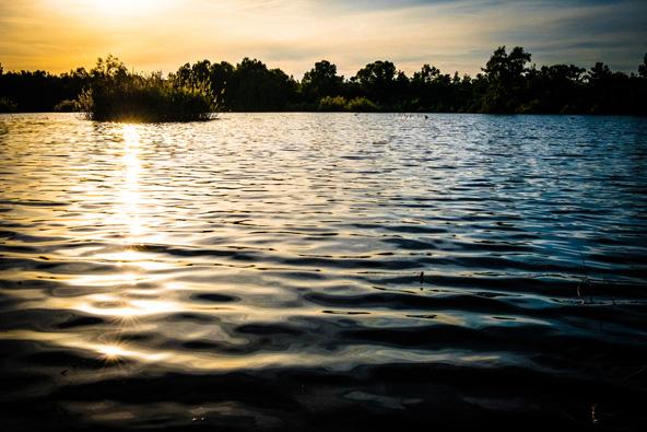 טבע ליד העיר: שקיעה באגם שבפארק Athalassa הסמוך לניקוסיה