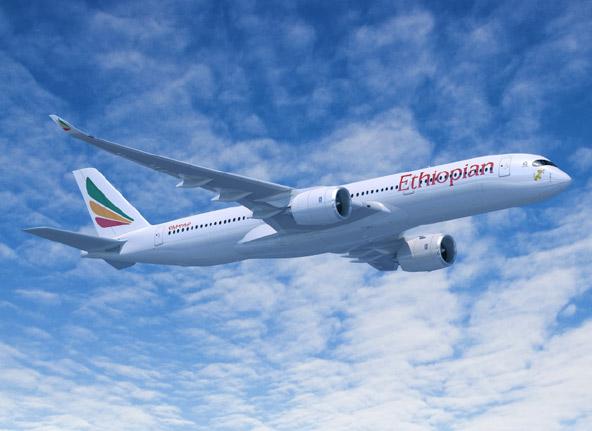 מטוס של חברת אתיופיאן איירליינס. לחברה האתיופית יש צי של כ-95 מטוסים