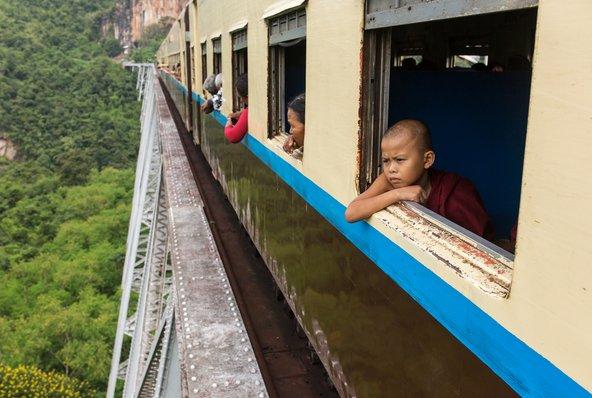 הנסיעה ברכבת לסיפאו היא חלק בלתי נפרד מחוויית הטיול במקום