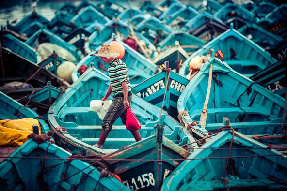 דייג וסירות דייגים באסווירה
