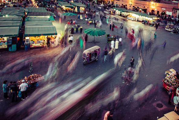 ג'אמע אל פנא, כיכר השוק הגדולה של מרקש