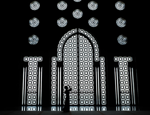 מסגד חסן השני בקזבלנקה. יפה בחוץ ובפנים, בזריחה ובשקיעה