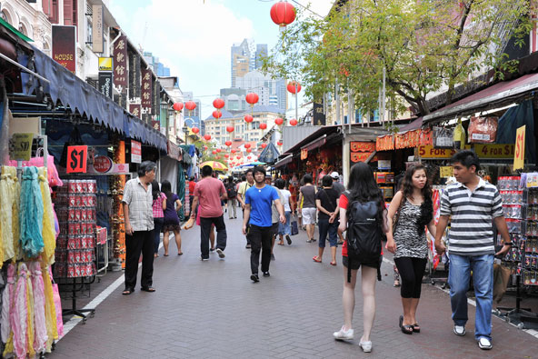 הרחובות בסינגפור מצוחצחים, גם בשווקים