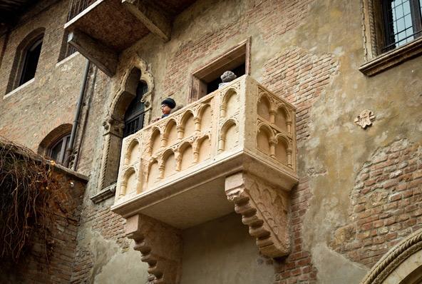 ובכל זאת, איך אפשר בלי המרפסת המפורסמת של רומיאו ויוליה?