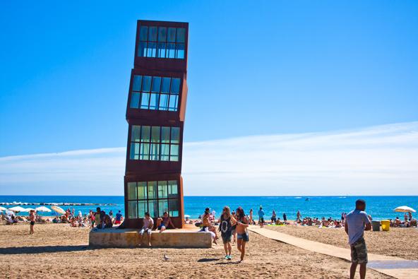 חוף ברצלונטה, החוף הכי פופולרי בעיר
