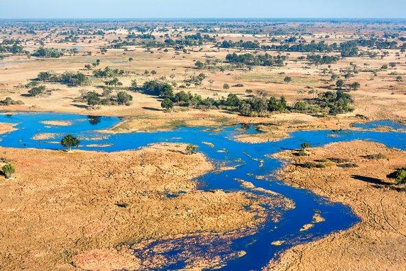 הדלתא של האוקוונגו, אחד משבעת פלאי הטבע של אפריקה