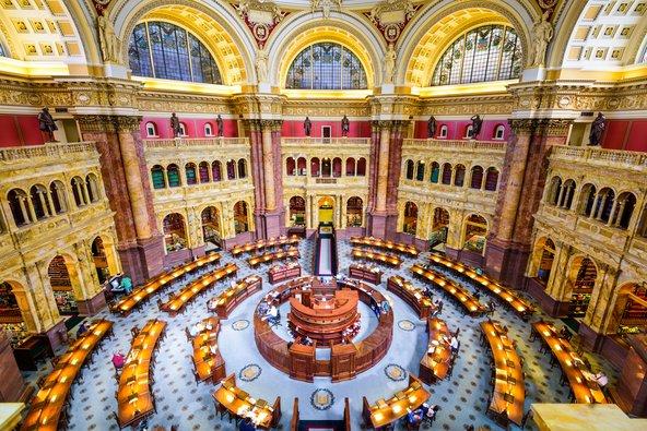 ספריית הקונגרס בוושינגטון די.סי, הספרייה הגדולה בעולם | צילום: Sean Pavone / Shutterstock.com