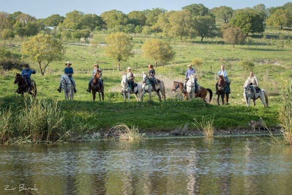 טיול סוסים לגדות נחל שלף השופע מים בחורף ובאביב | צילום: באדיבות חוות דובי