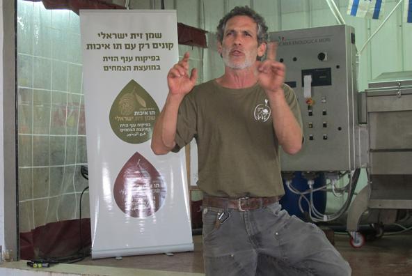ערן גלילי בבית בד גלילי | צילום: יעל עופר