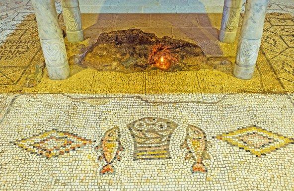 הפסיפס בכנסיית הלחם והדגים   צילום: eFesenko Shutterstock.com
