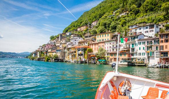 גנדריה. כפר שוויצרי עם מראה ים תיכוני