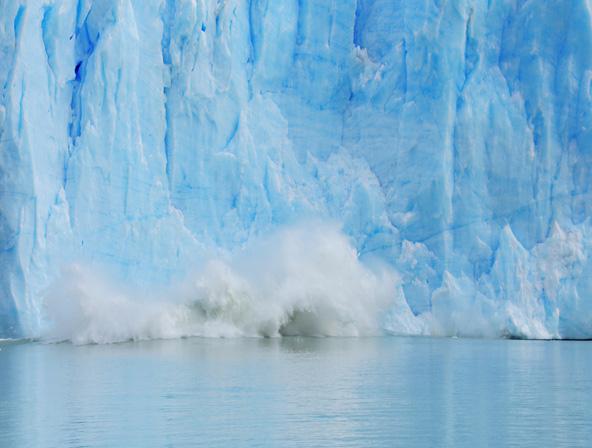 קריסת גוש קרח מקרחון פריטו מורנו