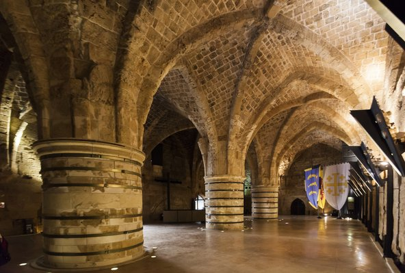 אולמות האבירים בעכו העתיקה | צילום: Ilia Torlin / Shutterstock.com
