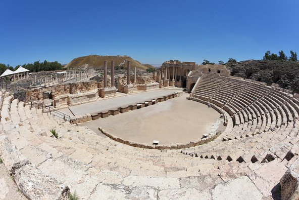 התיאטרון הרומי השמור היטב בבית שאן