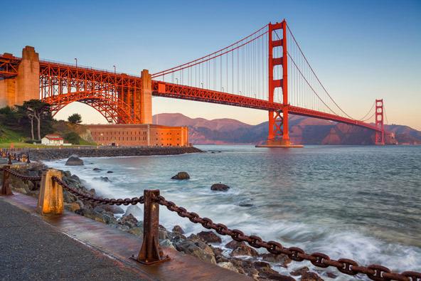 גשר שער הזהב בסן פרנסיסקו, אחד היעדים האהובים בקליפורניה