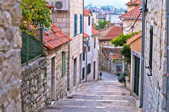 רחוב בעיר העתיקה של ספליט