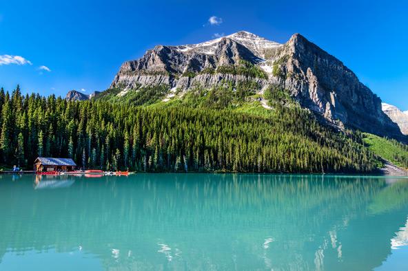אגם לואיז. תמונת נוף מושלמת