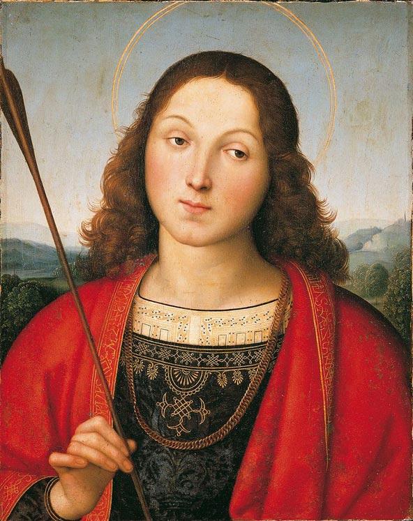 סבסטיאן הקדוש, ציור של רפאל מ-1501 הנמצא באקדמיה קררה בברגמו
