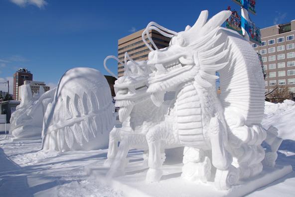 פסלי שלג בפסטיבל השלג של סאפורו   צילום: Yasufumi Nishi/JNTO