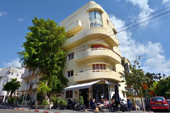 בניין באוהאוס בתל אביב. בעיר יש יותר בתי באוהאוס מבכל מקום אחר בעולם