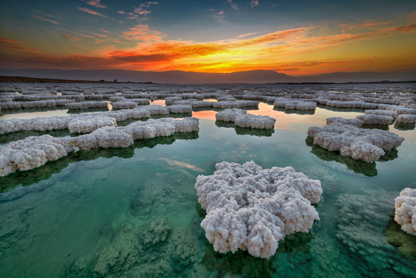 זריחה בים המלח, הנקודה היבשתית הנמוכה ביותר בעולם