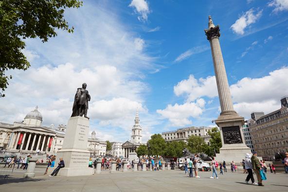 כיכר טרפלגר הוקמה כדי לציין ניצחון בריטי על הצרפתים