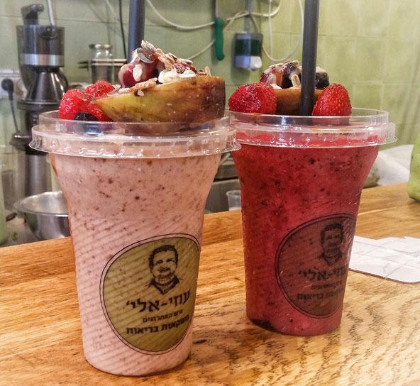 משקאות בריאות אצל איש האתרוגים בשוק הכרמל | הצילום באדיבות יאללה בסטה