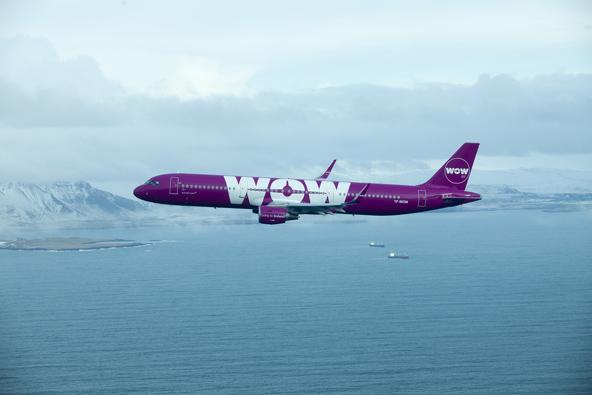 מטוס של חברת WOW. הזוכה המאושר יכיר את מטוסי החברה מקרוב מאוד