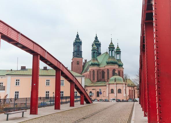 הגשר המוביל לאי הקתדרלה, שנמצא בנהר החוצה את פוזנן