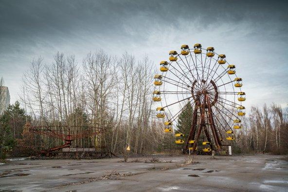 פארק שעשועים נטוש בעיר הרפאים פריפיאט ליד צ'רנוביל