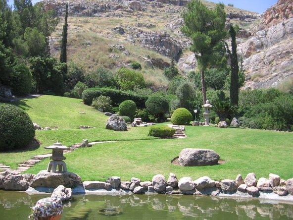 הגן היפני בחפציבה. עיצוב יפני, צמחייה ונופים ארץ ישראליים