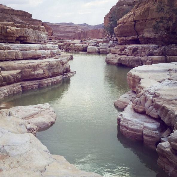 גב בנחל צין. בנחל יש ריכוז מרשים של גבים, חלקם מלאים מים גם בקיץ | צילום: גל שירי בירנבאום