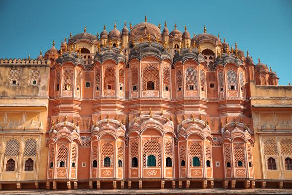 ארמון הרוחות (Hawa Mahal) בג'איפור