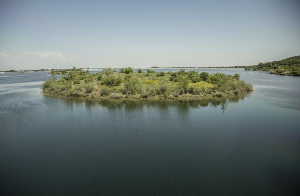 אי קטן בנהר ליד וריה